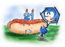 Happy 21st Birthday Sonic! by kuroshinki