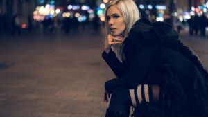Cinematic Portrait - City at night by Cleo-Feline