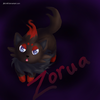 Zorua by hushaby-monster