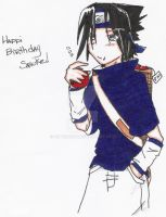 Happi belated birthday Sasuke by SilverRiku