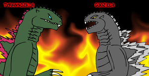 REQUEST - Godzilla vs. Tyrannozilla by KingAsylus91