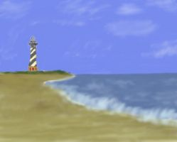 lighthouse airbrushed by sluffies