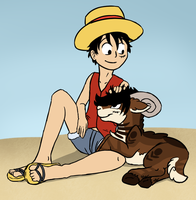 Luffy and Luffy((REQUEST)) by catlover1672
