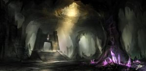 Crystal cave by YoBarte