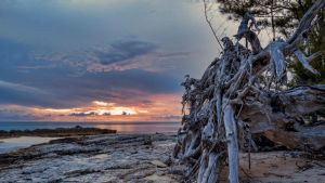 Sunset at Paranoia Beach by peterpateman