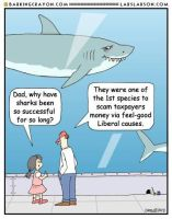 Liberal Sharks by Conservatoons