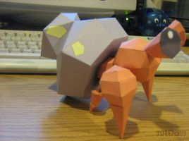 Dwebble papercraft by NinjaKirby144