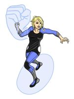 Invisible Woman Redesign by toekneearrows