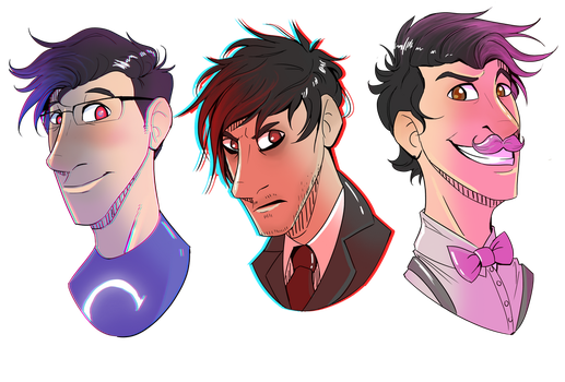 The Markiplier Trio by Lone--Dragon