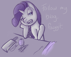 A message from Rarity by PonySocialExperiment