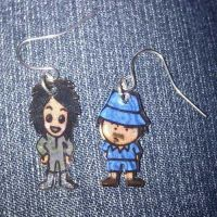 Kawaii Mighty Boosh earrings by Lovelyruthie
