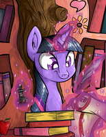 Twilight Sparkle: Master Egghead by ArtObvious