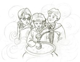 Polyjuice Potion WIP by bananaboo2