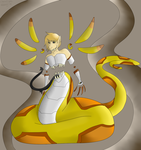 Mixed Egg 1, Sunburst Naga by CannibalHarpy