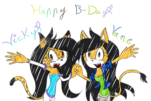 Happy B-Day sonamycomic by SweetSilvy