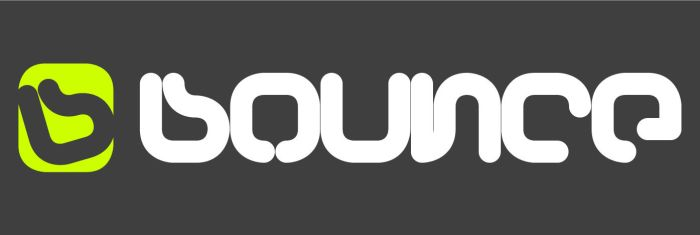 bounce logo+logotype by nozm