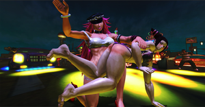 Street Fighter - Poison spanking Juri by Rose-ByAnyOther-Name