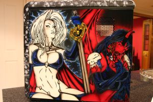 Lady Death PC Case by BoaGrafix