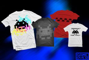 Shirt: Space Invaders by GAME-OVER-CUSTOM