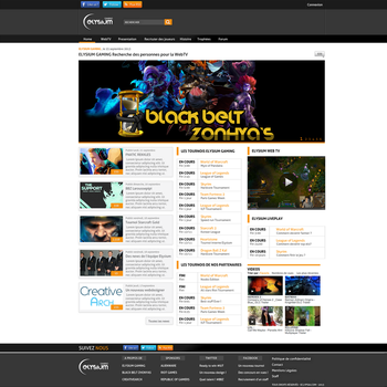 Elysium Gaming Home Page - Sold by crativearch