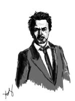Robert Downey Jr by mrkmhtet
