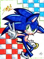 Sonic ! by greengirlhedgehog