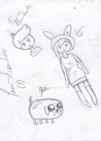 Adventure time sketches by luv-SASUHINA