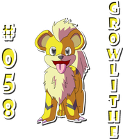 058 Growlithe by zeaeevee