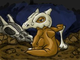 Cubone Art-trade by zurtech