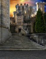 Pre-made Background Stock - Castle 7 by theartofdarrenvannoy