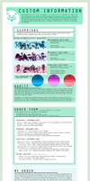 Custom Information and Ordering template. by SinCommonStitches