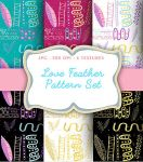 Love Feather Pattern Set by GABY-MIX