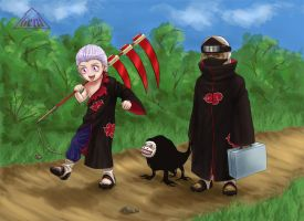 Chibi Hidan and Kakuzu by Genisc