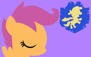 Minimalist scootaloo by Death-of-all