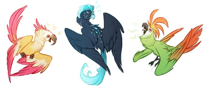 Parrots by CoconutMilkyway