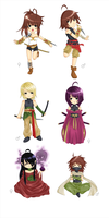 Chibi Assassins by yoco-chan