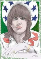 Gram Parsons coloured by Dominik19