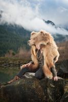 Bear headdress by NaturePunk
