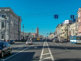 Perspective on Nevsky prospekt by Rikitza