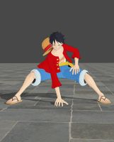 Luffy - Gear second pose by TheForgottenSaint47