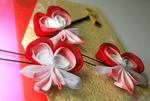 Bleeding Heart. Bobby Pin Set by hanatsukuri