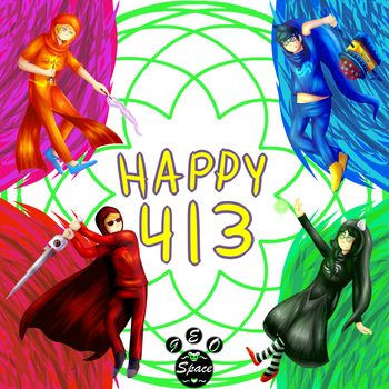 Happy 413 | Homestuck | 413 Special by Geo-Space
