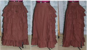 Brown Steampunk Skirt by FrockTarts