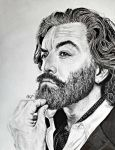 Pencil and Ink Timothy Omundson/Cain by LoveYouLikeSin