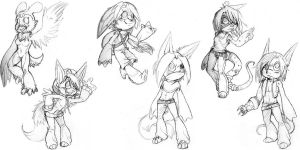 Neglected chibi sketches by grindzone