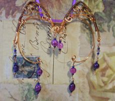 Purple and Copper Elven Ear Wraps by SereneFaury