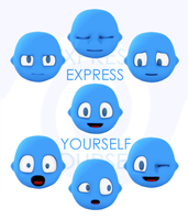 Expressions of my 3d character by Sharper