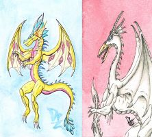 ACEO - Furaha and Arcos by DragonBellum92-DP