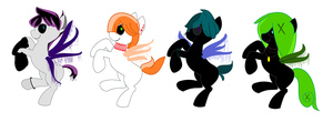 Cutie Slendy Pony Adopts  [OPEN] by MaggiesAdoptables