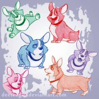 Corgi rainbow! :3 by DeeTeaGirl